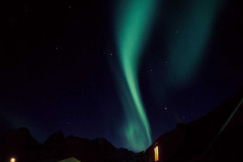 Stamsund - Lofoten Hostel : Northern Lights, Hostel, Stamsund