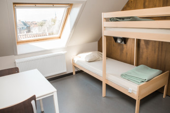Gent Hostel De Draecke : Twin room hostel De Draecke in Gent