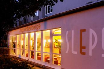 Augsburg : Exterior window hostel in Germany Augsburg