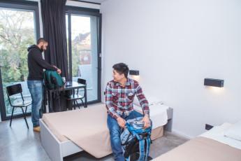 Antwerp - Central Hostel : habitación privada, con dos camas individuales