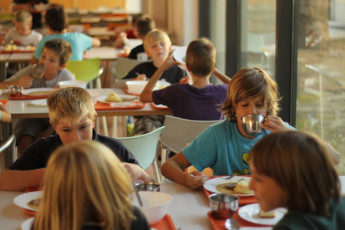 Youth Hostel Debeli Rtič : 092609 – Hostel Develi Rtic – children in a dining room image