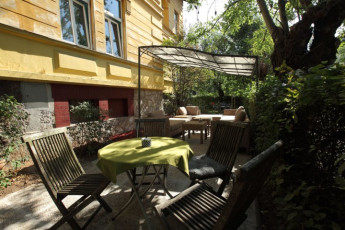 Youth Hostel Vila Veselova : Hostel Vila Veselova, X60433, terrace in shadow image