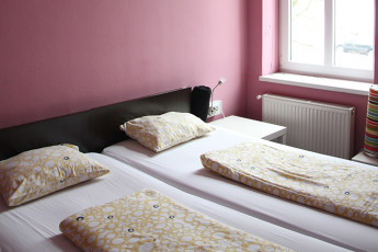 Youth Hostel Vila Veselova : Hostel Vila Veselova, X60433, twin beds image