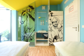 Youth Hostel Celje : 092564, Youth Hostel Celje, twin room with art image