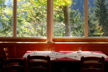 Youth Hostel Barovc : X403446, Hostel Barovc, dining room and view image