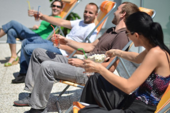 Youth Hostel Brežice : 092565, Youth Hostel Brežice, terrace with people image