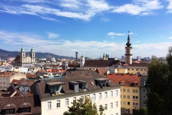 Linz Stanglhofweg : Blick auf Linz