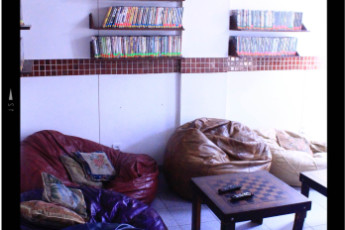 Tupiniquim Hostel : A massive TV in our lounge so you can chill and enjoy our film collection