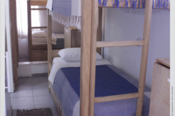 Tupiniquim Hostel : Our 8 people mixed dorm on the 4th floor has a private bathroom and it is very quiet