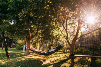 Tsitsikamma - Tsitsikamma Backpackers : Hammock chill space