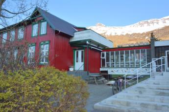 Hafaldan Old Hospital - Seydisfjordur hostel : Vista exterior de Seyoisfjorour Hostel, Islandia