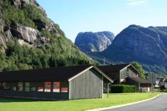 Lysefjorden : paisaje vista de Lysefjorden albergue, Noruega