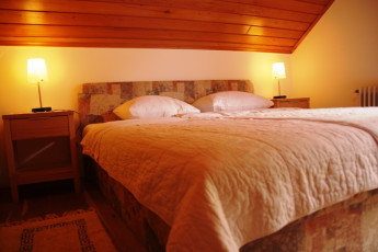 Youth Hostel Ljubno ob Savinji : 092535, Youth Hostel Ljubno Ob Savinji, double bed and lights image