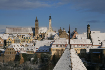 Rothenburg ob der Tauber : Snow