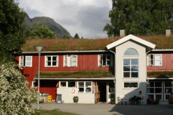 Åndalsnes : comedor en Andalsnes Hostel, Noruega