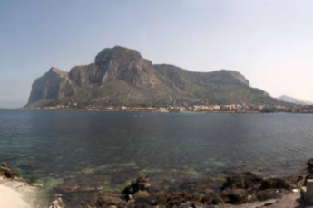 Palermo - Baia del Corallo : View of Local Beach from Palermo - Coral Bay, Italy