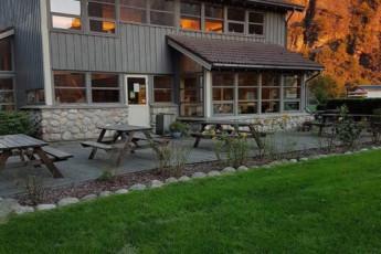 Lysefjorden : salle commune en Lysefjorden Hostel, Norvège