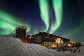 Abisko Mountain Station : de comedor en la Laponia - Abisko turística estación hostal en Suecia