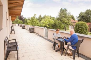 Maldegem - Die Loyale : Twin Rooms with Terrace at Maldegem - Die Loyale Hostel, Belgium