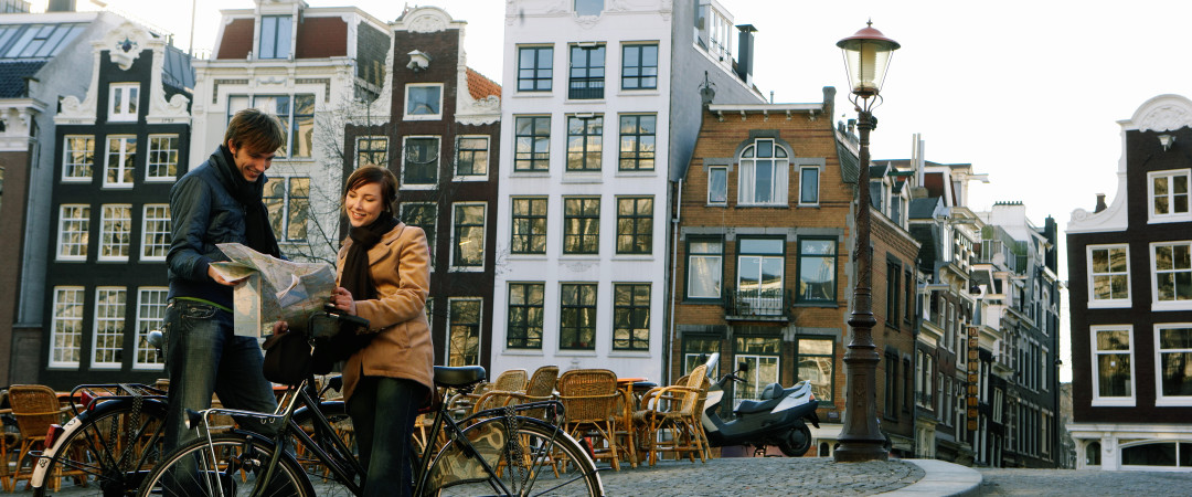 A short bike ride from our hostel takes you to the centre of Amsterdam - see the colourful canals, world-famous museums and then shop.