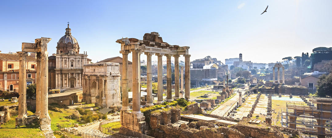 Stay in the relaxing countryside at our hostel but see the sights of Rome, such as the historic Forum.