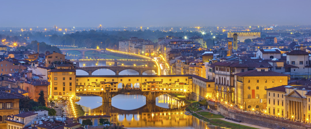 When in Florence, see the Ponte Vecchio at first-hand - before sampling the tasty food the region offers.