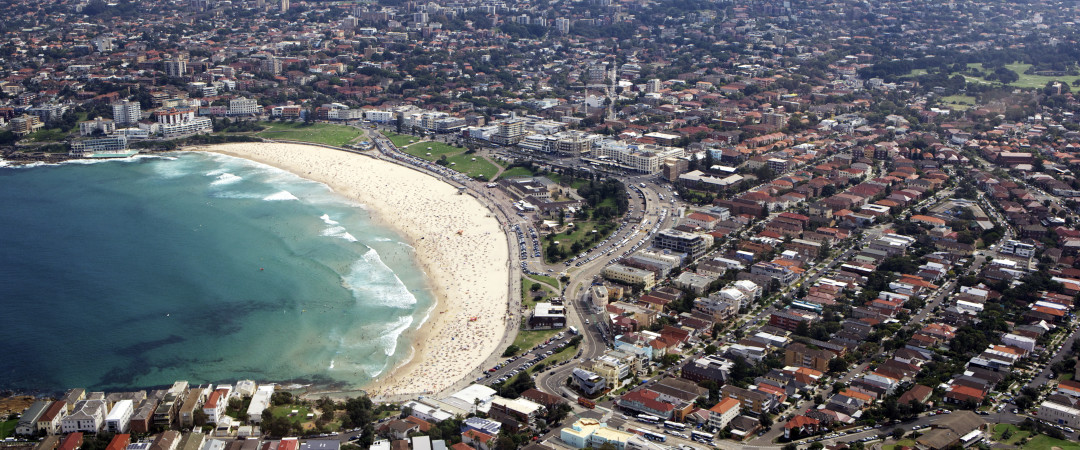 Bondi Beach is a great place to hang out - whether you're taking in the waves or having afternoon tea and a lamington.