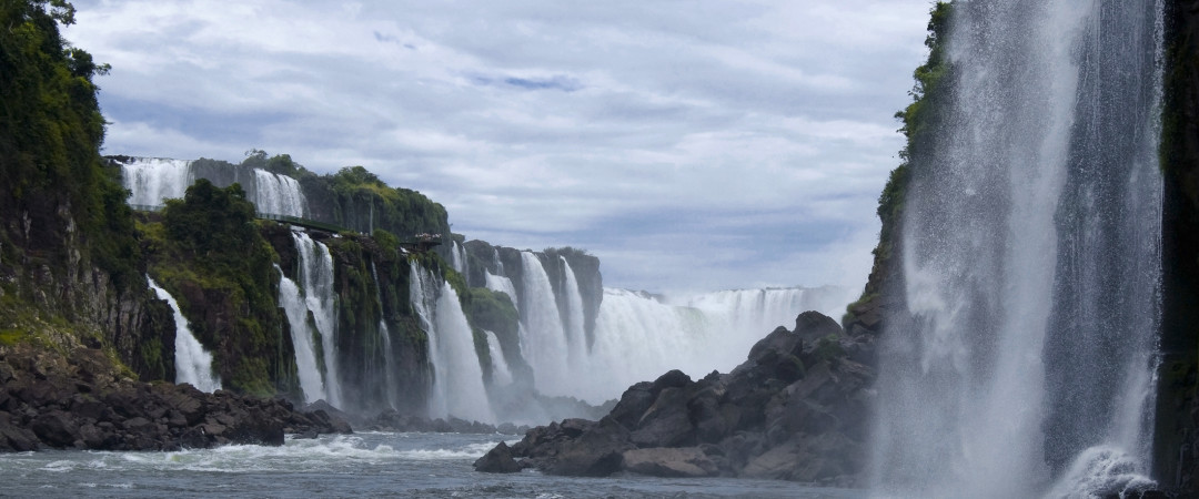 The Iguazú Falls is made up of between150 and 300 individual waterfalls, depending on the river flow. Water sight!
