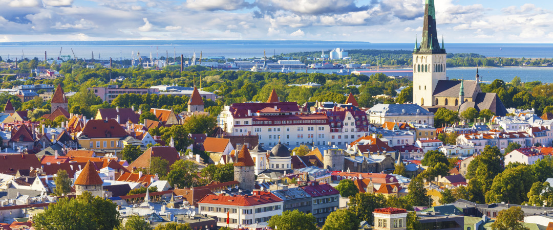 This panoramic view of Tallinn captures its patchwork feeling - old and new mingle to form a destination with plenty of history and bars!