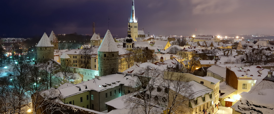 Old Tallinn at night looks as pretty as a picture - but it's also a party place with a large number of bars and nightclubs.