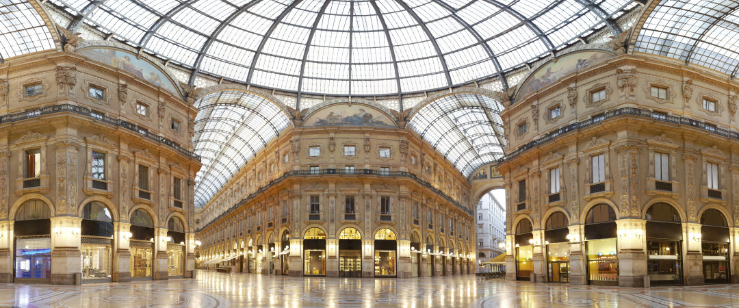 Take a trip to one of the famous shopping centres in Milan known as the Galleria Vittorio Emmanuel II.