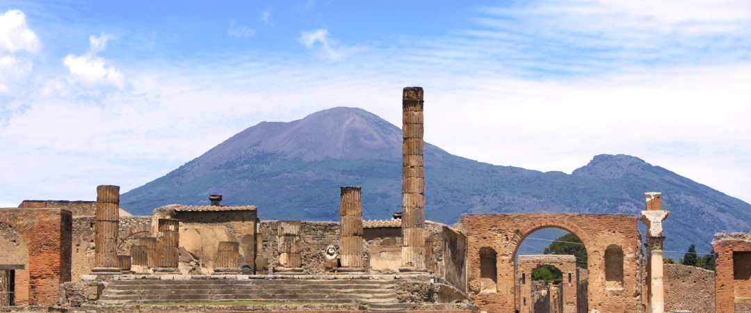 Vesuvius and the ruins of Pompeii are two traveller's must-sees - both within easy reach of our welcoming hostel.