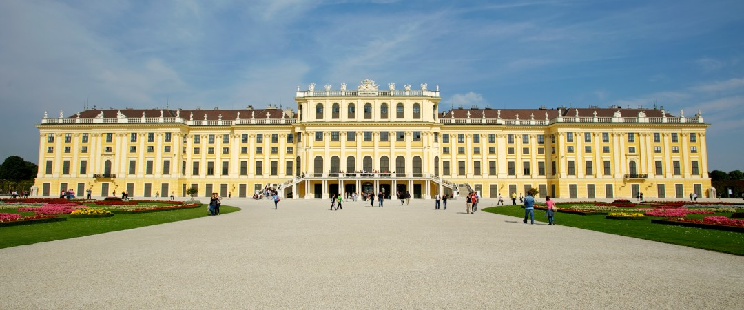 Visit the beautiful and historic Schoenbrunn Palace to experience the rich history of Austria.