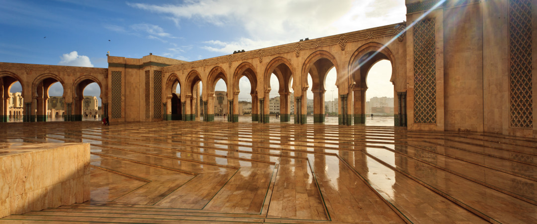 Experience the beautiful country of Morocco and visit the city of cuture, Casabalanca.