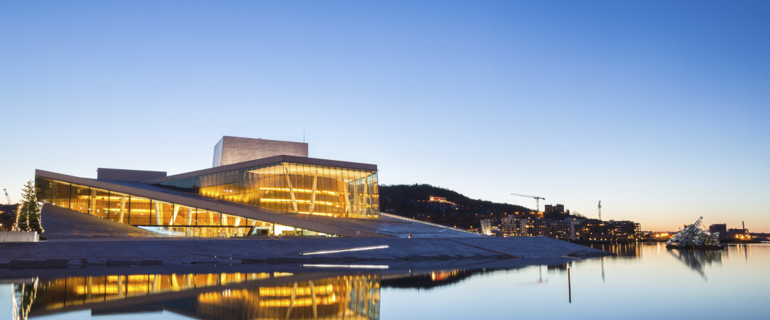 Hop on a bus and visit the distinctive Oslo Opera House, home of The Norwegian National Opera and Ballet.
