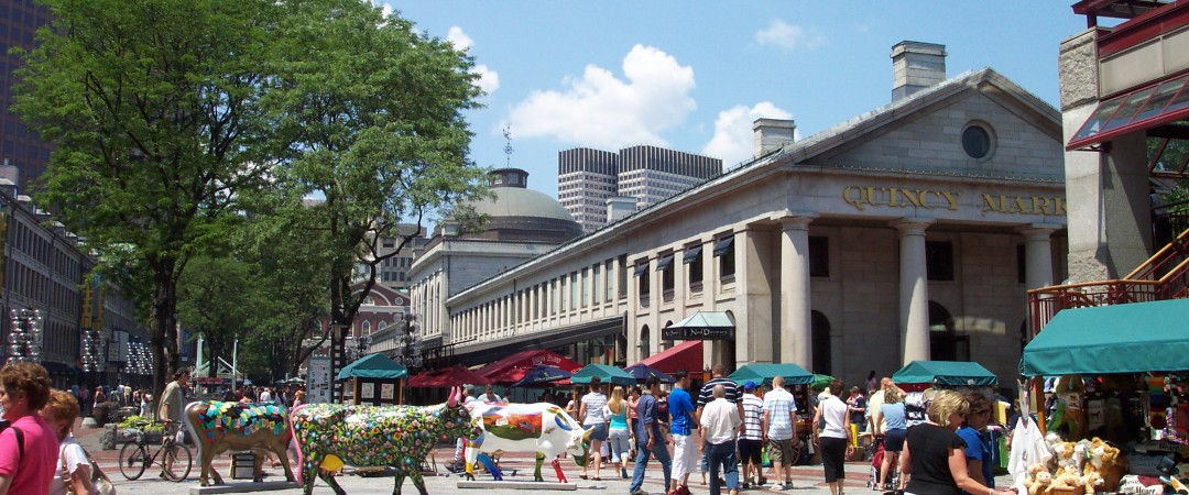 Are you a foodie? See the real Boston and visit Quincy Market, rich in history, filled with delicious food stalls and street performers.