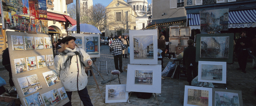 Set on the top of a hill, Montmartre in Paris is great to wander around, watching street acts and seeing artists peddling their wares.