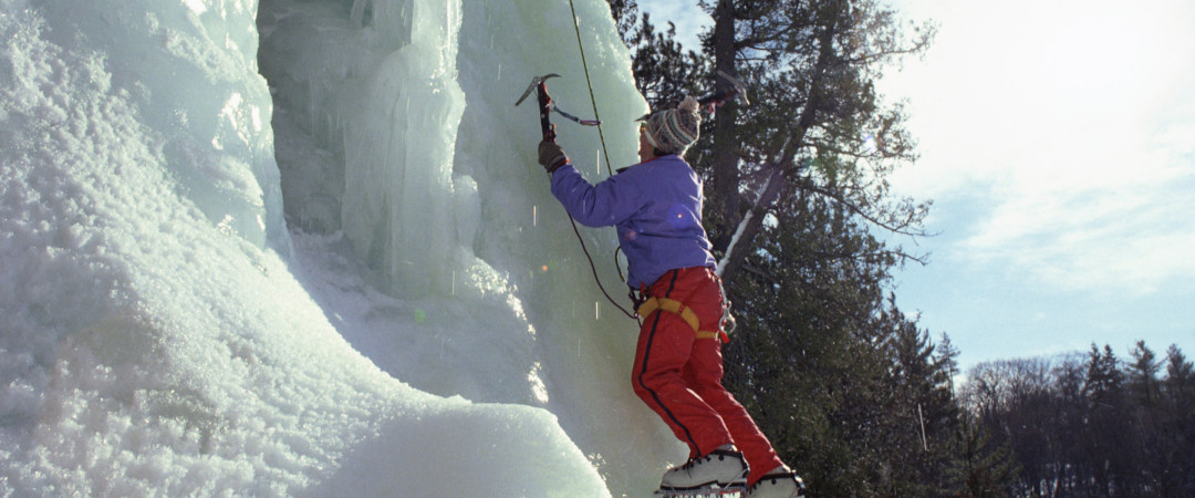 Where better to try the thrilling sport of ice-climbing than a location packed with spots to scale the ice and professionals to assist you.