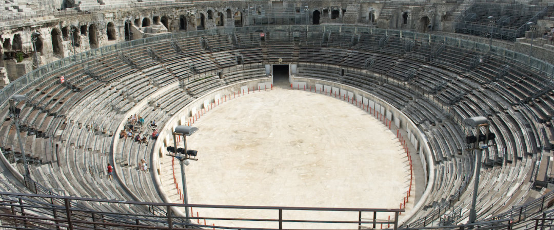 Take a trip into the centre of Nîmes and see the Arènes de Nîmes, a primary example of how Provence is a region steeped in ancient history.