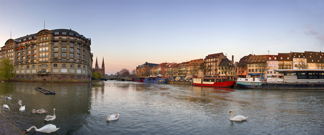 Take a tour of Strasbourg by boat and see the main sights, including the Museum of Modern and Contemporary Art and the European Parliament