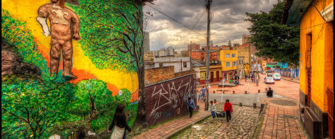 Walk along the cobbled streets of Bogota and be amazed by the colourful colonial architecture.