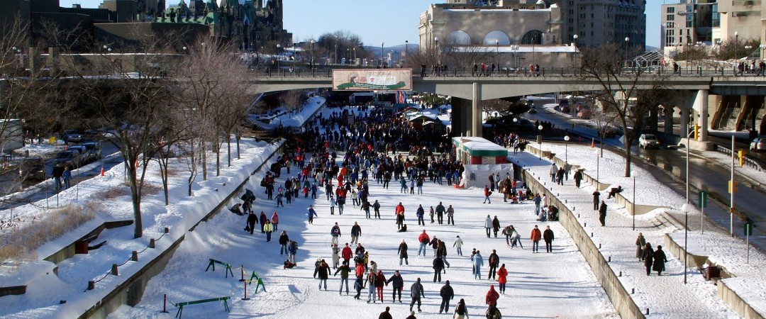 Skate through the heart of Ottawa on the world's largest skating rink, the frozen Rideau Canal.