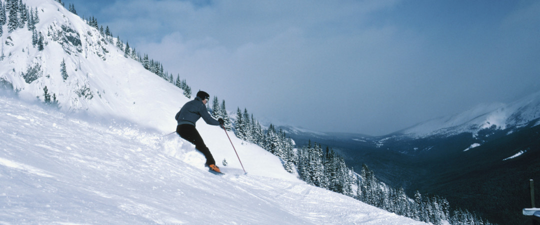 Banff National Park is the perfect location for winter sports including skiing, ice skating and sledding.