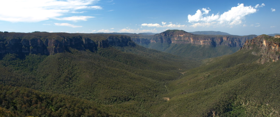 The visually spectacular Blue Mountains National Park offers endless outdoor sports opportunities - try abseiling, bushwalking or canoeing.