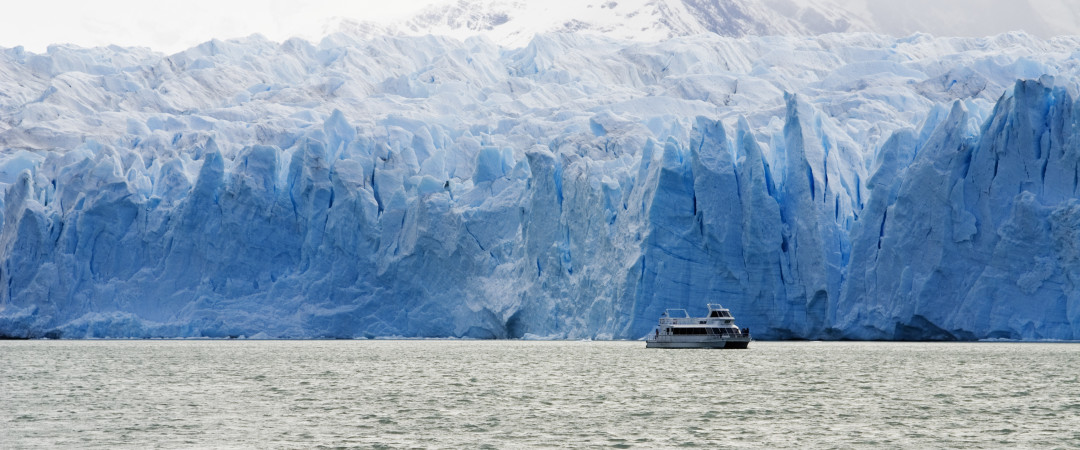 Calafate in Patagonia is the place for glaciers! Get close to the Perito Moreno Glacier and hear the noise of continuous breaking ice.