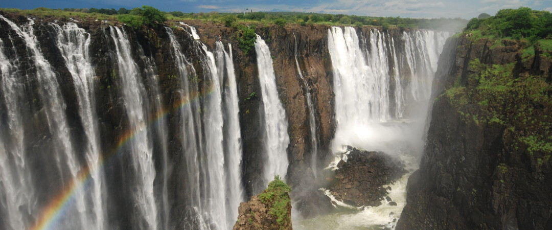 Feel a spray of Victoria Falls when you take a trip there from our hostel.