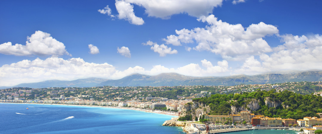 The sun shines on Nice all year round - wander along the famous Promenade des Anglais and watch as the golden-hued sunset hits the ocean.