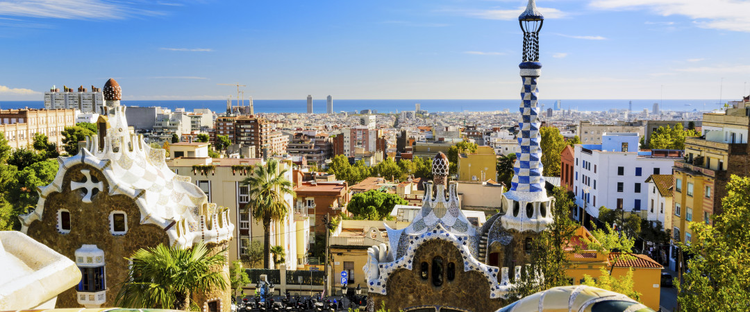 Spain has beautiful sights that are yours for the taking! Start your tour in Barcelona, hop on the metro and visit Gaudi's Park Guell.