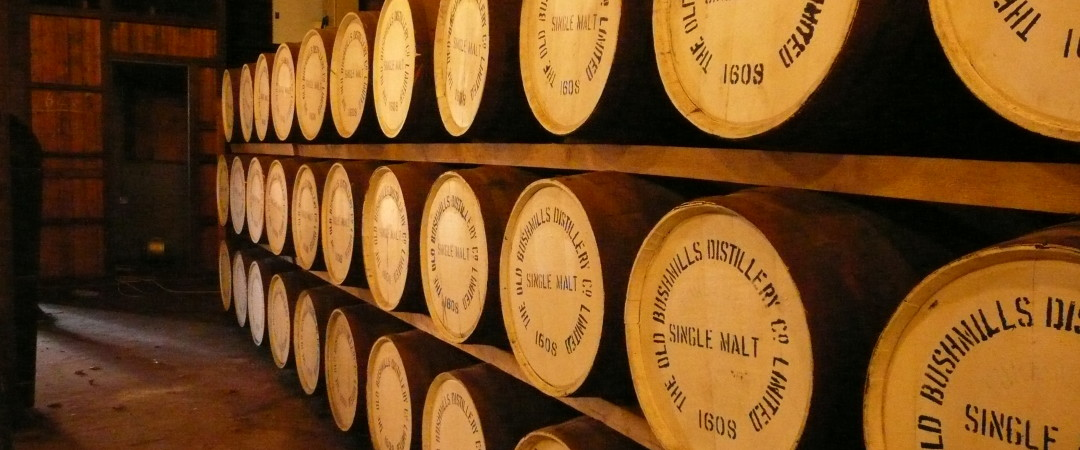 Head to Old Bushmills Distillery and try some authentic Irish whiskey.