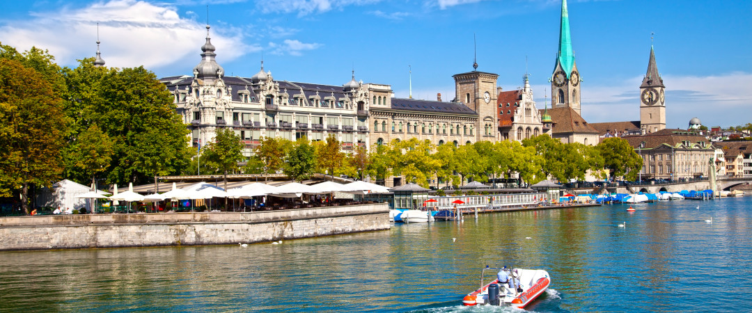 Sailing down the Limmat River that runs through Switzerland's capital is just one of the many activities you can enjoy when staying in Zurich.